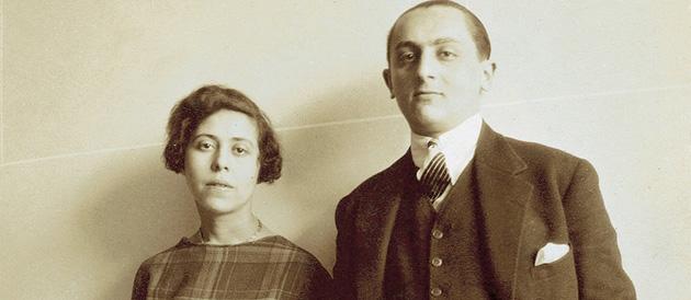 Irène Némirovsky și Michel Epstein (1925) © Fonds Irène Némirovsky/Imec