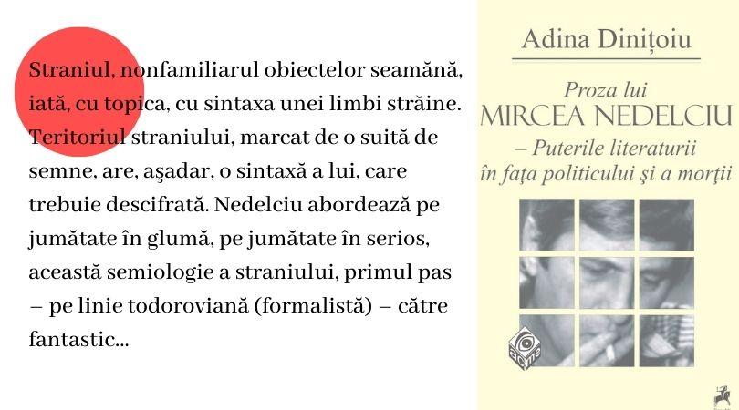 "Reach content for Google search ""Mircea Nedelciu"" ""Adina Dinitoiu"""